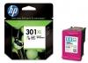 HP CH564EE 301XL farebná atramentová náplň orig.