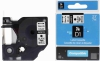 Kompatibilná páska s Dymo 12mmx7m čierny tisk/biely podklad